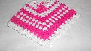 getlinkyoutube.com-Poncho em crochê para crianças muito facil e bonito Parte 1 - Crochet Poncho - Gancillo Poncho