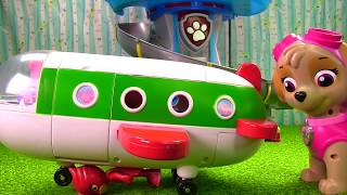 getlinkyoutube.com-Peppa Pig Holiday Plane Crashes on Paw Patrol Skye & PJ Masks Owlette