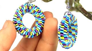 getlinkyoutube.com-Earrings with quilling strips