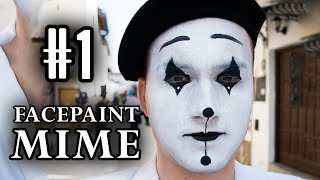 getlinkyoutube.com-Draw a French Mime Face | Facepaint Tutorial | Vlog #1
