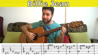 getlinkyoutube.com-Fingerstyle Tutorial: Billie Jean - Guitar Lesson w/ TAB
