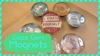 getlinkyoutube.com-How To Make Glass Gem Magnets