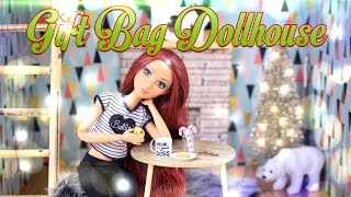 getlinkyoutube.com-DIY - How to Make: Gift Bag Dollhouse Craft - Holiday Gift Ideas - 4K