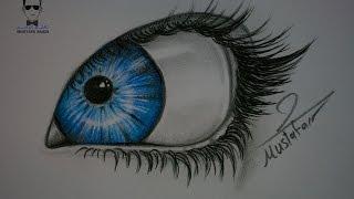 getlinkyoutube.com-درس رسم العين بالرصاص والالوان الخشبية للمبتدئين خطوة بخطوة