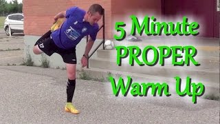 How To Warm Up Before A Soccer / Football Game