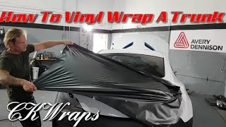 How to vinyl wrap a trunk in one piece. By @ckwraps