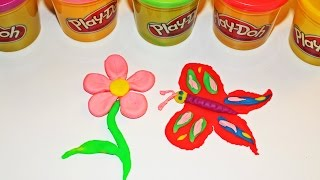 getlinkyoutube.com-Play-Doh Flower and Butterfly - Easy Kids Craft - Play doh for Kids