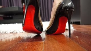 getlinkyoutube.com-Christian Louboutin Heels Unboxing and Protect your Pumps Protection Review
