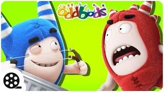 getlinkyoutube.com-Oddbods VS Pogo's Pranks | Pogo The Menace | Funny Cartoons For Children