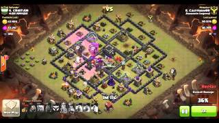 getlinkyoutube.com-Clash of Clans | GoLaloon 3 star on max defence TH9 base