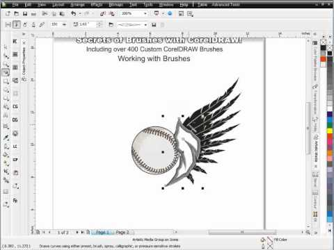 Secrets of Brushes Corel DRAW tutoriald Session 7