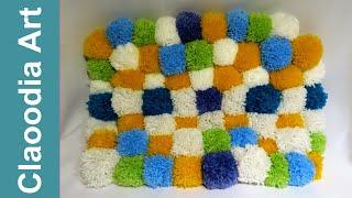 getlinkyoutube.com-Dywan z pomponów (Carpet with pompoms, DIY)