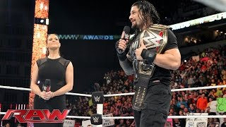 getlinkyoutube.com-Stephanie McMahon wipes the smile off Roman Reigns' face: Raw, December 21, 2015