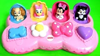 getlinkyoutube.com-Disney Baby Minnie Mouse Pop Up Toys Surprise Pals with Daisy Duck Minnie's BowTique Bow Toons