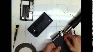 getlinkyoutube.com-Microsoft 640 - Repair Touch Digitizer Disassemble LCD