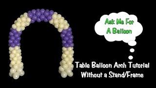 getlinkyoutube.com-Frameless Balloon Arch for Cake Table
