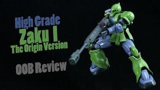 getlinkyoutube.com-707 - HG Zaku I The Origin Version (OOB Review)