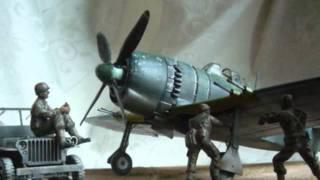 getlinkyoutube.com-US Jeep & Kawanishi George 1945. 美軍接收日本戰机.  米軍による捕獲紫電改