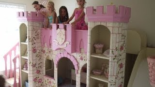 getlinkyoutube.com-Beautiful Girls Princess Room- Princess Castle Bed