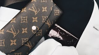 getlinkyoutube.com-Louis Vuitton Emilie Wallet (Rose Ballerine) Reveal