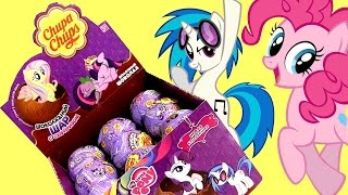 getlinkyoutube.com-My Little Pony Chupa Chups Surprise Box of Eggs Toys MLP Unboxing Review Mi Pequeño Poni