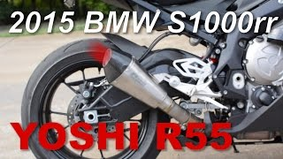 getlinkyoutube.com-2015 BMW s1000rr exhaust sound comparison - Yoshimura r55
