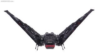 getlinkyoutube.com-Improved LEGO Kylo Ren's Shuttle - Star Wars TFA movie version MOD