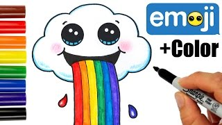 getlinkyoutube.com-How to Draw + Color a Cloud Puking Rainbows step by step Cute and Easy