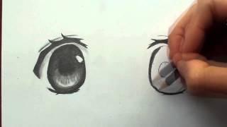 getlinkyoutube.com-TUTORIAL | Como dibujar ojos manga a lápiz | Selbor
