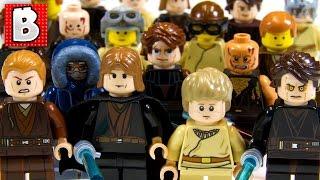 getlinkyoutube.com-Every Lego Anakin Skywalker Minifigure Ever!!! Rare Light-up Anakin | Collection Review