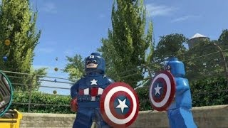 getlinkyoutube.com-LEGO Marvel Super Heroes (PS4) - Captain America Free Roam Gameplay