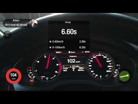 Audi A6 Allroad 3.0tdi разгон 0-100 0-200 Acceleration