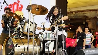 getlinkyoutube.com-Mark Ronson - Uptown Funk ft. Bruno Mars LIVE Drum Cover by Nur Amira Syahira