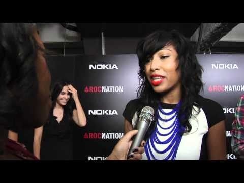 Melanie Fiona Flirts with Wale @ Roc Nation Brunch