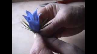 getlinkyoutube.com-Fiori di carta crespa - Crepe paper flowers: Genziana // Gentiana // Горечавка