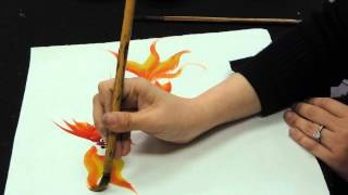 getlinkyoutube.com-Chinese brush painting basics - gold fish
