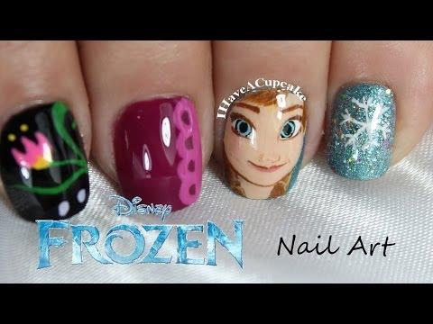 Frozen Nail Art - Anna