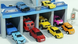 getlinkyoutube.com-Transformers MiniForce Carbot  Tobot  Shooting Car Toys  미니특공대 출동본부  헬로카봇 트랜스포머 또봇  슈팅카 장난감 놀이