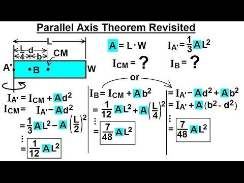 Mechanical Engineering: Ch 12: Moment of Inertia (47 of 97)  Parallel Axis Theorem Revisited