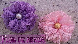 getlinkyoutube.com-FLOR DE RENDA | DIY - PASSO A PASSO