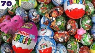 getlinkyoutube.com-70 Thomas and Friends Peppa Pig Play Doh Kinder Surprise Eggs Cars Planes Avengers MLP Frozen
