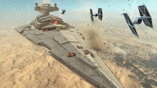 getlinkyoutube.com-Star Wars Battlefront: Cinematic Movie Fighter Squadron - battle of jakku