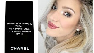 getlinkyoutube.com-CHANEL Perfection Lumiere Velvet Foundation - Review & Demo | Stephanie Lange
