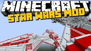 getlinkyoutube.com-Minecraft: STAR WARS MOD (New Vehicles, Lightsaber and more) Showcase - Brothers Minecraft