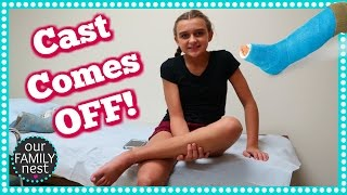 LEG CAST REMOVAL DAY... DOES SHE HAVE TO GET A NEW CAST?