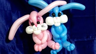 getlinkyoutube.com-Adorable Easter Bunnies Balloon Twisting