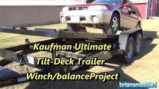 getlinkyoutube.com-Kaufman Tilt Deck Trailer Project- Winch mounting/balancing