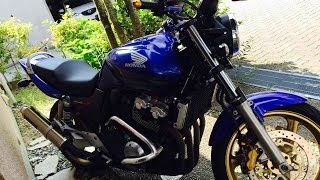 getlinkyoutube.com-CB400SF バイク ハンドル交換