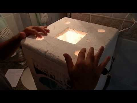 chocadeira simples e rustica sem termostato / egg incubator simple homemade
