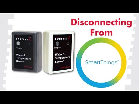 How To Exclude Devices From SmartThings: FortrezZ Water & Temperature Sensors